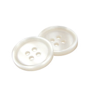 Riverbyland White Round Pearl Sewing Buttons 10mm 200pcs