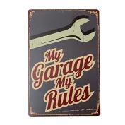KISSMYTWINS My Garage Tin Sign Vintage Metal Plaque Poster Bar Pub Home Wall Decor