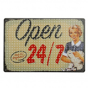 KISSMYTWINS Open Tin Sign Vintage Metal Plaque Poster Bar Pub Home Wall Decor