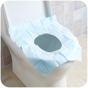 Qhome Travelling Pe Water Proof Disposable Toilet Seat Covers 10 Packages for Sale