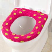 Qhome Washable Velvet Toilet Seat Cover Dot Spots