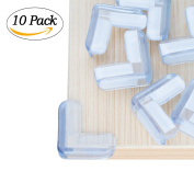 Cool-Shop 10 - Pack Baby Safety Clear Corner Guards, Anti-Collision Edge Corner Guard Protector, Furniture Sharp Corners Cushion, Keep Children Safe.