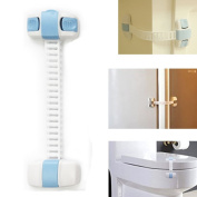 BoNaYuanDa Adjustable Child Cabinet Safety Locks with Adjustable Straps and Latch System for Drawers, Appliances, Toilet Seat