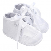 Ec Baby Shoes Boy Girl Newborn Crib Soft Sole Lace-Up Shoe Sneaker Frist Wlaker