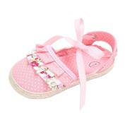 Ec Baby Toddler Girl Crib Shoes Princess Flower Dot Soft Prewalker Soft Shoes