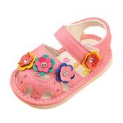 Ecosin Kid Children Girl Flower Shoes Princess Fashion Slip-On Single Shoes