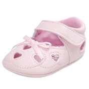 Ec Baby Girl Heart Sandal Shoe Casual Bowknot Shoes Sneaker Anti-slip Soft Shoes