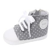 Ecosin Baby Lace-UP Shoes Boy Girl Newborn Crib Soft Sole Shoe Polka Dot Sneakers