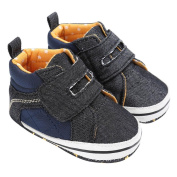 Ecosin Baby Boys' Denim Premium Soft Sole Infant Prewalker Toddler Sneaker Shoes