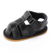 Ecosin Baby Hollow Sandals Crib Anti-Slip Shoes Soft Sole Shoes Fast Walkers