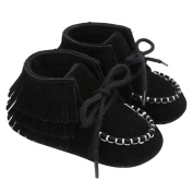Ecosin Baby Newborn Tassel Crib Shoes Soft Sole Anti-Slip Prewalker Fast Walkers