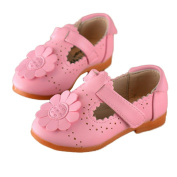 Ecosin Baby Children Girl Flower Howllow Shoes Princess Fashion Single Shoes
