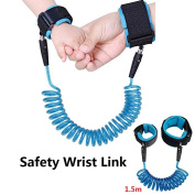 Anti Lost Wrist Link, Philyer Child Safety Hook and loop Wrist Link for Toddler Baby Harness Strap - Blue, 150cm
