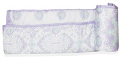 Wendy Bellissimo Crib Teething Guard Reversible Rail Guard Elephant Pattern from the Anya Collection in Lavender and Grey