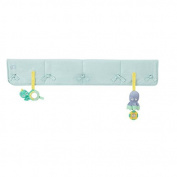 Babee Talk Eco-Teether Crib Rail Cover, Aqua, 130cm x 46cm