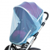 YOHA 2 pcs Baby Portable Durable Mosquito Net for Strollers, Car Seats, Soft Mesh Insect Netting For Cradles and Cribs/Universal Blue