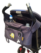 My Elephant Buggy / Stroller Organiser with detachable purse and extra storage bag