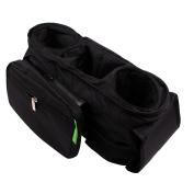 K-JYBA Pram Stroller Organiser Bag Cup Holders Cellphone holder Mesh Pocket Zip-off Pouch Universal Fit Large Space Capacity