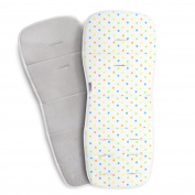 Coney Island Cotton Stroller Pad Universal Size, Breathable Support Cushion Unisex Cute Dot Design Liner