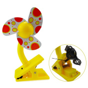 UZZO Baby Safty Clip-On Stroller Fan,USB Rechargeable Portable Cooler Mini Fan for Strollers Baby Cots Playpens,Camping