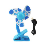 ieasysexy Baby Clip-On Fan ,Safty Mini Stroller Cooling Fans for Strollers Baby Cots Playpens