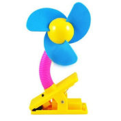 Baby Pushchair, Cot,Buggy & Pram Mini Safety Clip-on Fan Blue