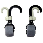 Cren Portable Baby Stroller Buggy Mom Hooks Pushchair Hanger Rotatable Double-Hook