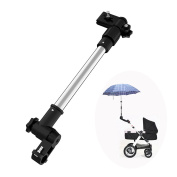 Adjustable Bike Stroller Umbrella Connector Holder ,Wheelchair Baby Pram Stroller Accessories Sunshade Umbrella Bar Holder Mount Stand,Cycling Bicycle Mount Holder