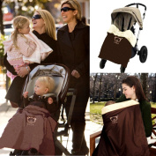 Hiltow Baby Comfort Stroller Weather Shield / Waterproof Stroller Warm Blanket Cover fit winter