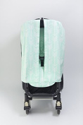 Bambella Designs Stroller Privacy Curtain - Mint Arrows