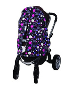 Bambella Designs Stroller Privacy Curtain - Purple Circles