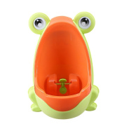 Froggy Baby Urinal,Child Boys Portable Froggy Potty Toilet By Sunshine D Training Kids Aim Target Fashion,Cute,Funny And Lovely Light Green