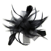 HowYouth Women's Detachable Fascinators Flower Hat Derby Cocktail Party Bridal Headpieces with Hair Clip Hair Band