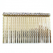rougecaramel – Side Hair Comb In Metal And Rhinestones For Wedding Ceremony Accessories 7.5 cm