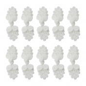 Chinese Knots Frog Buttons Closure Knot Cheongsam Handmade Sewing Fasteners,White