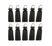 Z-colour 10 pack Leather Zipper Pull For Boot/Jacket/Bag/Purse Replacement and Production
