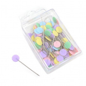 1 Box Patchwork Quilting Flat Head Pins Flower Head Pins DIY Tool Sewing Accessories by HONGTIAN