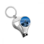 Ocean Light Dark Tower Picture Metal Key Chain Ring Multi-function Nail Clippers Bottle Opener Car Keychain Best Charm Gift