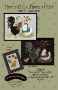 """Here a Chick, There a Chick Part 4 """"Courtship"""" Applique Quilt Pattern by Bonnie Sullivan from All Through the Night #1614"""