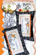Rattle & Roll Skeleton Pillow Embroidery Pattern by Meg Hawkey From Crabapple Hill Studio #333 Happy Halloween