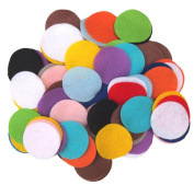 Mixed Colours 500 Pieces Non-Woven Round Shapes DIY Craft Sewing Felt Pads Circles Headdress Flowers Decoration Circles