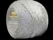 White Silver Metallic Braid Thread Camellia #17343 - 20 gramme 207 yards