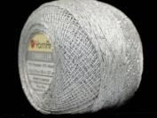 White Silver Metallic Braid Thread Camellia #17343 - 20 gramme 207 yards