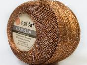 Brown Silver Metallic Braid Thread Camellia #34766 - 20 gramme 207 yards