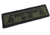The Tactical DON'T TREAD ON ME 2.5cm x 8.9cm OD Green Morale Patch (hook/loop) by Empire Tactical USA
