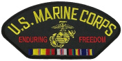 U.S. MARINE CORPS ENDURING FREEDOM VETERAN W/ COMBAT ACTION RIBBON PATCH - Multi-coloured - Veteran Owned Business