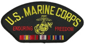 U.S. MARINE CORPS ENDURING FREEDOM VETERAN W/ NATIONAL defence PATCH - Multi-coloured - Veteran Owned Business