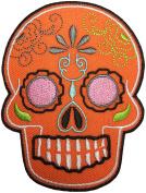 Papapatch Mexican Sugar Skull Tribal Tattoo Rockabilly Day Of Dead Día De Los Muertos Biker DIY Embroidered Applique Sew Iron on Patches