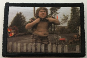 Goonies Chunk Truffle Shuffle Morale Patch. Perfect for your Tactical Military Army Gear, Backpack, Operator Baseball Cap, Plate Carrier or Vest. 5.1cm x 7.6cm Patch. Made in the USA