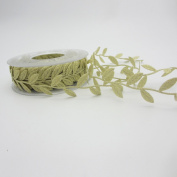1roll/lot(15meters/roll) 30mm(1.18inch) Leaves Trim Embellishment Leaf Ribbon
